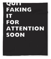 Quit Faking It- Art By Linda Woods Fleece Blanket