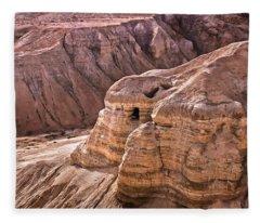 Qumran Cave 4, Israel Fleece Blanket