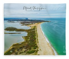 Quonochontaug Beach Fleece Blanket