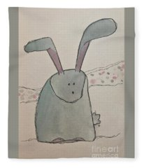 R Is For Rabbit Fleece Blanket