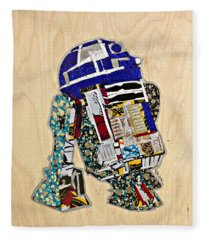 R2-d2 Star Wars Afrofuturist Collection Fleece Blanket