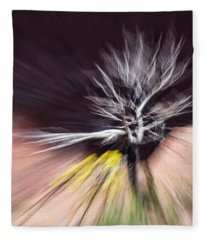 Rabbit Brush Bones Twist Fleece Blanket
