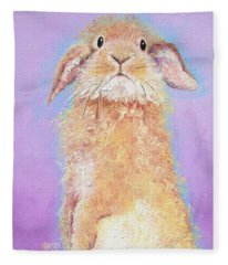 Rabbit Painting - Babu Fleece Blanket