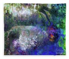 Rabbit Reflection Fleece Blanket