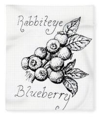 Rabbiteye Blueberry Fleece Blanket