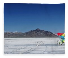 Racing On The Bonneville Salt Flats Fleece Blanket