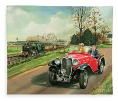 Car Paintings Fleece Blankets