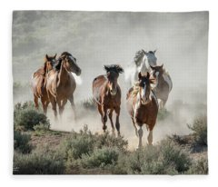 Racing To The Water Hole Fleece Blanket