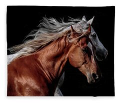 Racing With The Wind Fleece Blanket