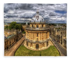 Radcliffe Camera Panorama Fleece Blanket