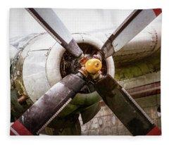 Radial Engine And Prop - Fairchild C-119 Flying Boxcar Fleece Blanket