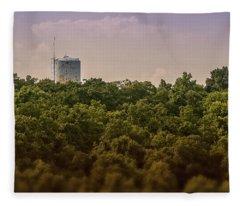 Radioactive Landscape Fleece Blanket