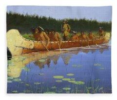 Radisson And Groseilliers Fleece Blanket