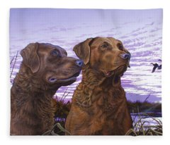 Ragen And Sady Fleece Blanket