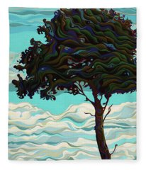 Raging Sky Po-e-tree Fleece Blanket