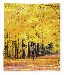 Autumn Glory On The Rail Trail Fleece Blanket