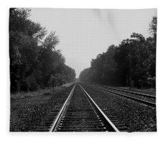 Railroad To Nowhere Fleece Blanket