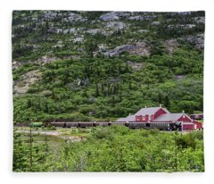 Railroad To The Yukon Fleece Blanket