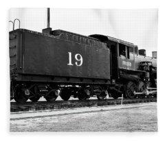 Railway Engine In Frisco Fleece Blanket