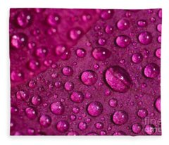 Rain And Bougainvillea Petals Fleece Blanket