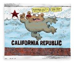 Rain And Drought In California Fleece Blanket