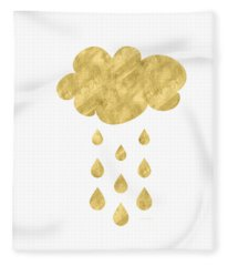 Rain Cloud- Art By Linda Woods Fleece Blanket