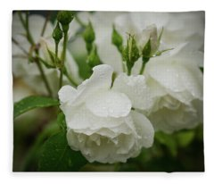Rain Drops In Our Garden Fleece Blanket