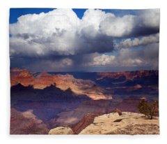 Rain Over The Grand Canyon Fleece Blanket