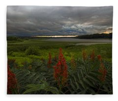 Rain Over The Mohawk Fleece Blanket