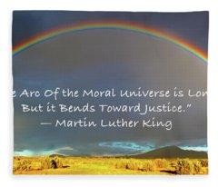 Martin Luther King - Justice Fleece Blanket