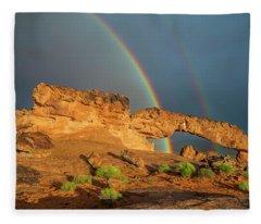 Rainbow Arch Fleece Blanket