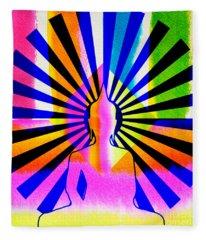 Rainbow Buddha Fleece Blanket