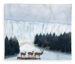 Rainbow Creek Fleece Blanket