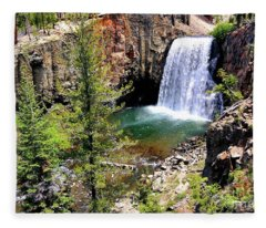 Rainbow Falls 1 Fleece Blanket