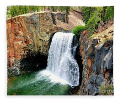 Rainbow Falls 11 Fleece Blanket