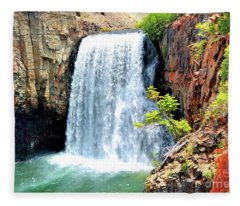 Rainbow Falls 14 Fleece Blanket