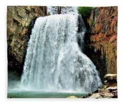 Rainbow Falls 16 Fleece Blanket