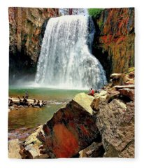 Rainbow Falls 17 Fleece Blanket