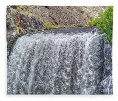 Rainbow Falls 18 Fleece Blanket