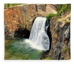 Rainbow Falls 3 Fleece Blanket