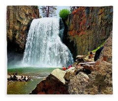 Rainbow Falls 4 Fleece Blanket