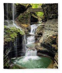 Rainbow Falls Gorge Fleece Blanket