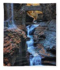 Rainbow Falls Fleece Blanket