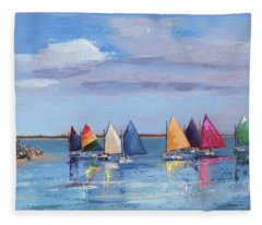 Rainbow Fleet Parade At Brant Point Fleece Blanket