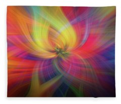 Rainbow Flower Of Passion Fleece Blanket