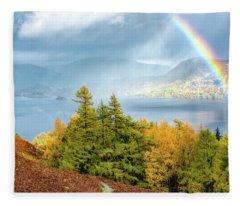Rainbow Gold Fleece Blanket