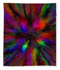 Rainbow Grunge Abstract Fleece Blanket
