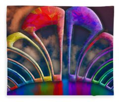 Rainbow Hill Fleece Blanket