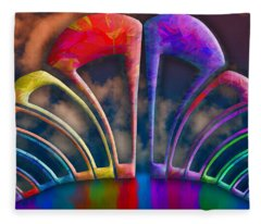 Rainbow Hill Fleece Blanket