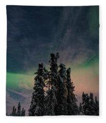 Rainbow In The Night Fleece Blanket